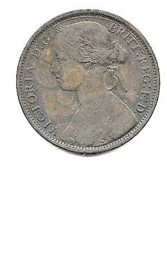 1862  great britain Penny  KM. 749.2