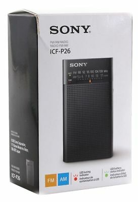 Sony Icf-P26 Portable Am/fm Battery Operated Radio - Black