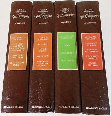 Lot of 8 hardcovers: Family Treasury of Great Biographies - Reader's Digest