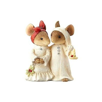 Mice Couple w/ Candle 4057651 Heart of Christmas mouse figurine Enesco holiday A