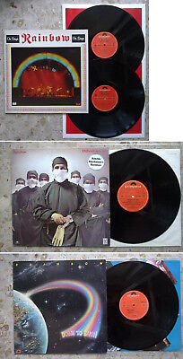 RAINBOW - 3LP lot 1977 / 79 / 81 ON STAGE (2LP) DOWN TO EARTH DIFFICULT TO CURE