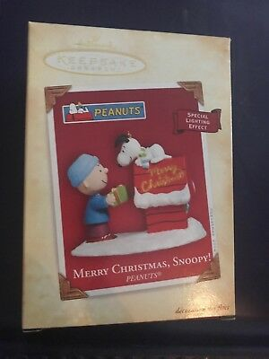 2004 Hallmark Keepsake Merry Christmas Snoopy! The Peanuts Gang Ornament NIB
