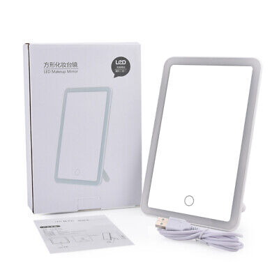 Makeup Mirror LED Vanity Cosmetic Mirror with Touch  Screen Dimming USB Charging
