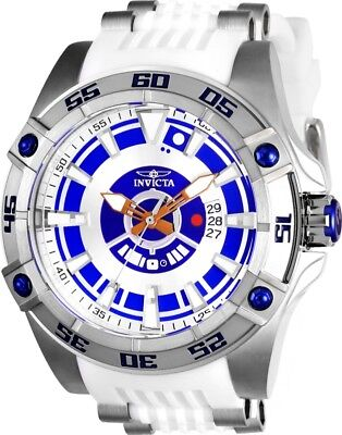 Invicta 26520 Star Wars Men's Automatic 52mm Stainless Steel White Rubber Watch