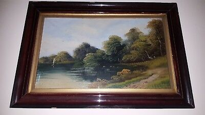 Antique framed oil painting, Late 19th century.
