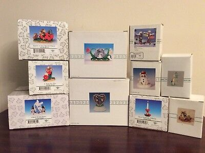Lot of 10 Charming Tails Figurines New In Boxes-2 Large Displays-Wow