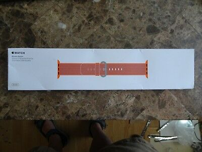 Genuine Apple 38mm Woven Nylon Band For Apple Watch - Space Orange/Anthracite