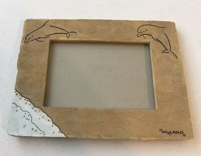 Dolphin Picture Frame- Beige resin