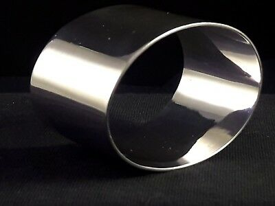 Sterling Silver NAPKIN RING Quality 31g Classic clean Georgian design Birmingham