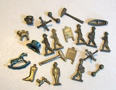 Group of Old Metal Charms & Figures, Possible Cracker Jack