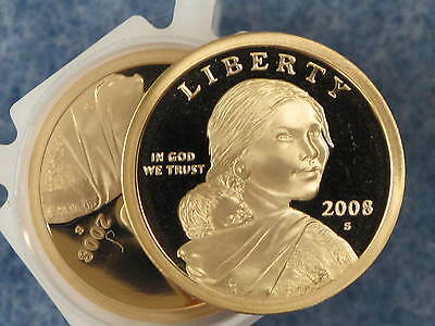 2008-S Sacagawea Native American Golden Dollar Gem DCAM Proof roll of 20 coins
