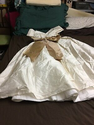 Vintage Pure Khadi Silk Wedding Dress Size 10