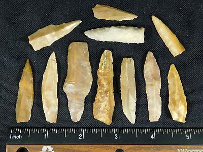 Big Lot of 9,000 to 4,000 Year Old Lithic Artifacts Bir Gandus Morocco 37.7gr e