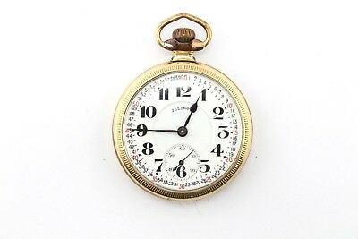 Vintage Illinois Bunn Special Railroad Pocket Watch 21 Jewels - Nr - #3364-4
