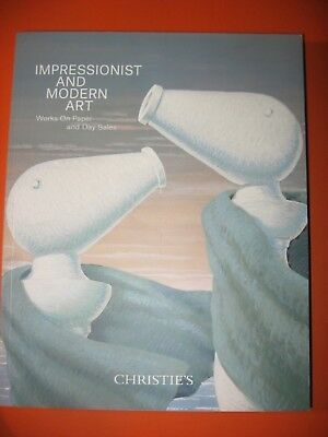 Impressionist Art  Christie's Day Sale W O Paper November 12 2018 Catalog Modern