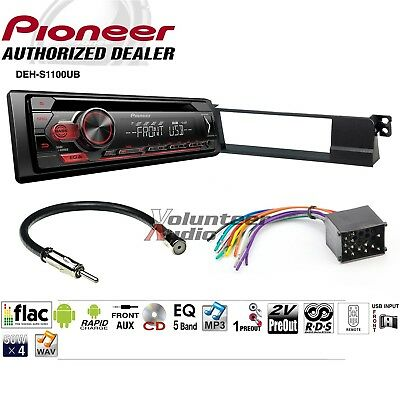 Pioneer DEH-S1100UB Single Din Car CD Stereo Radio Install Dash Mount Kit