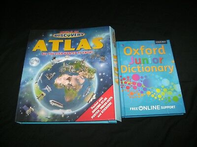 World Of Discovery Atlas & Oxford Junior Dictionary, Like New