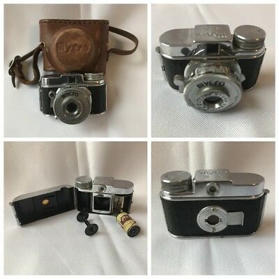 Vintage Cameras Sub Miniature Mycro With Original Leather Case And Film