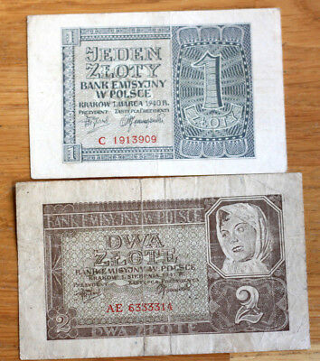 1+2 Zlotych, Bank of Poland, 1940.+41.