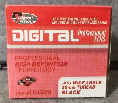 Digital Visions deluxe wide angle lens (0.45 wide angle 52mm thread )