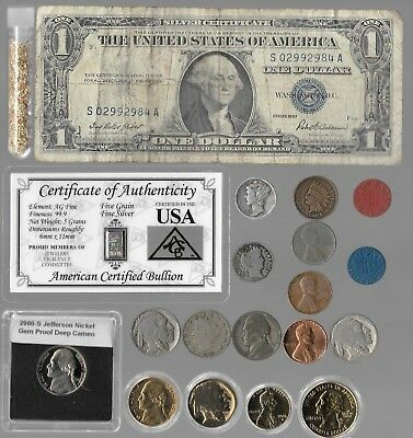 Silver Dollar Barber Mercury Indian Liberty Rare US Unique Coin Collection Gold