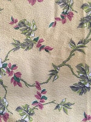Vintage Varkcloth Yellow Fabric For Pillow Or DIY