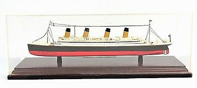 Rms Olympic White Star Line Ocean Liner Scale Model Ship In Display Case Plastic