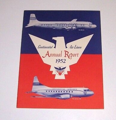 Continental Airlines 1952 Annual Report