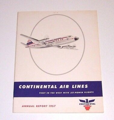 Continental Airlines 1957 Annual Report