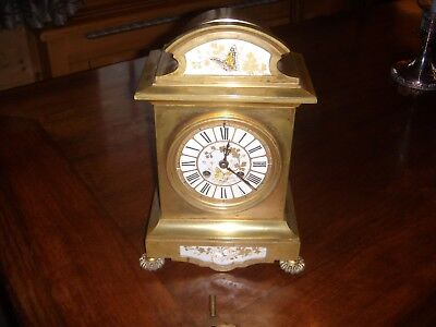 19th century French-gilt Mantel Clock    8 day striking movement