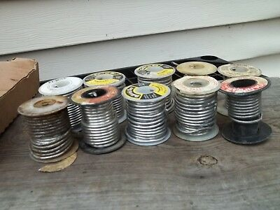 6lbs Wire Solder Various Size Brands Dutch Boy Canfiled Maco Wolverine Soldering