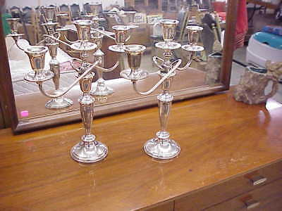 Pair Towle Sterling Silver #735 Candelabra Three Light Candle Holder Nice L@@K