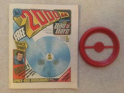 2000Ad #1 + Free Gift Space Spinner - Excellent Condition - 1977