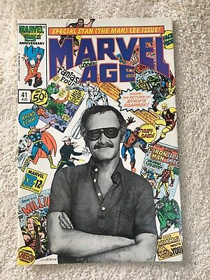 Marvel Age #41 - Stan Lee Photo Cover - Scarce! - High Grade Vf