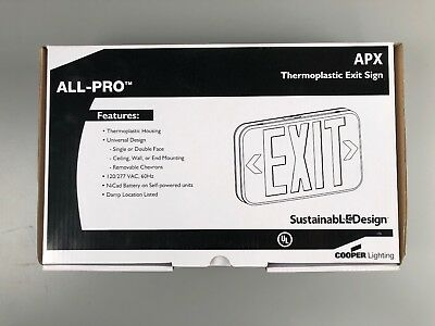 Cooper Lighting All-Pro APX7R LED Exit Sign, Red