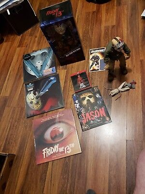 Jason Friday the 13th Movie Items LOT Never Hike Alone & Statue Vinyl Records