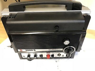 GAF 3000 S SUPER 8MM MOVIE PROJECTOR Nice WORKING w/CORD
