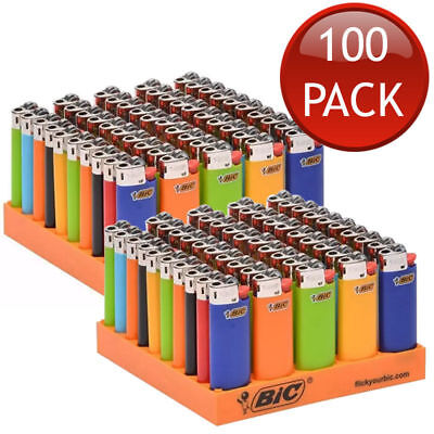 100 X Bic J26 Large Maxi Disposable Gas Lighter Tobacco Cigarette Cigar Zippo