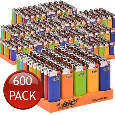600 X Bic J26 Large Maxi Disposable Gas Lighter Tobacco Cigarette Cigar Zippo