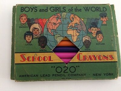 ANTIQUE BOYS and GIRLS  AMERICAN LEAD PENCIL CO NEW YORK. VINTAGE PENCILS