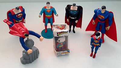 Lot of 7 DC Superman action figures, rare and scarce