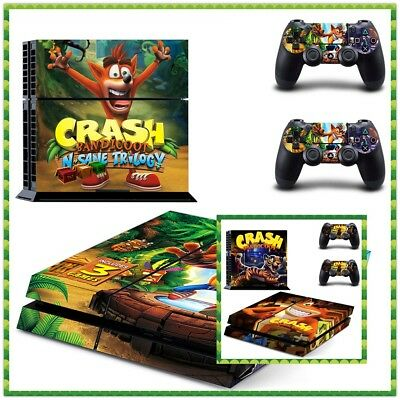 PS4 Console Crash Bandicoot Cover Skin Sticker Playstation4 Controller Decal