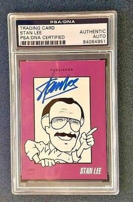 STAN LEE AUTO / SIGNED 1992 Marvel Convention Card -  PSA / DNA Encapsulated