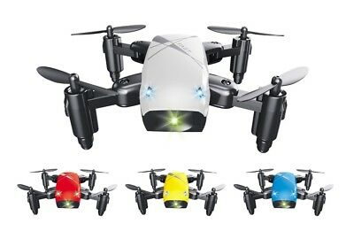 BROADREAM S9 Mini Foldable RC Quadcopter with Headless Mode LED Lights RTF - Whi