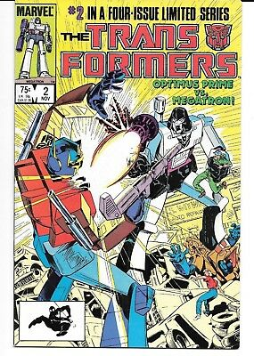 Transformers #2 -(Marvel 1984) - 1st Optimus Prime vs. Megatron!