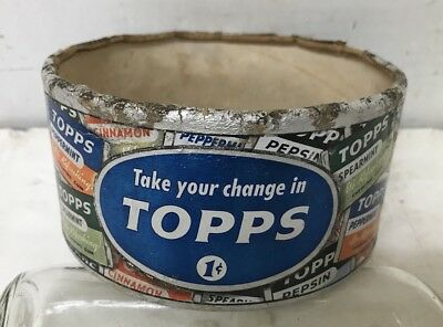 1946 Topps 1c Chewing Gum Store Countertop Container Round Box