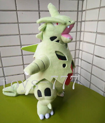 Pokemon Center 16'' Mage Tyranitar Stuffed Animal Dragon Plush Toy Soft Big