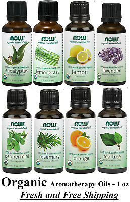 ORGANIC 1 oz Essential Oils by NOW Foods  ** FREE SHIPPING **