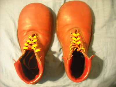 Vintage Leather Clown Shoes Red Very Cool!!