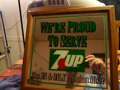 """We're Proud to Serve 7UP """"The Un and Only Premium Mixer"""" Wall Mirror UN-COLA"""